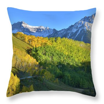 Throw Pillow featuring the photograph Mt. Sneffels From County Road 7 by Ray Mathis