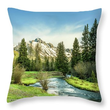 Mt. Sneffels Peak Throw Pillow