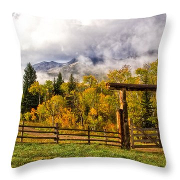Mt Sopris Under The Clouds Throw Pillow