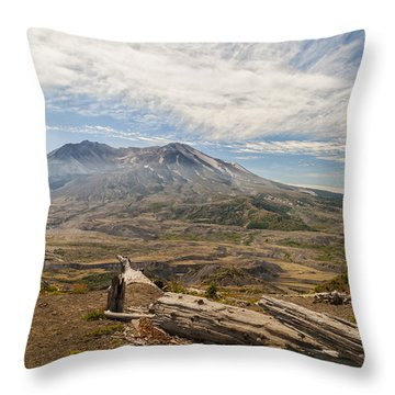 Mt St Helens Throw Pillow by Brian Harig