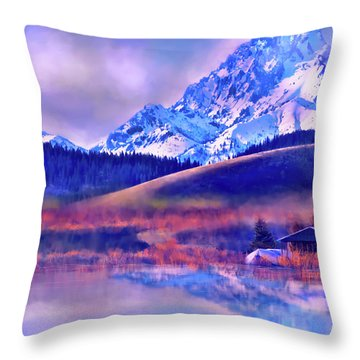 Mt. Stuart Throw Pillow
