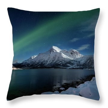 Mt Stortinden Throw Pillow