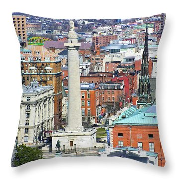 Mt Vernon - Baltimore Throw Pillow by Brian Wallace
