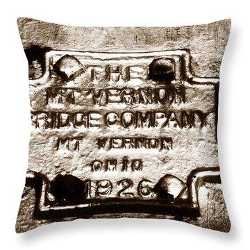 Mt. Vernon Bridge Company 1926 Throw Pillow