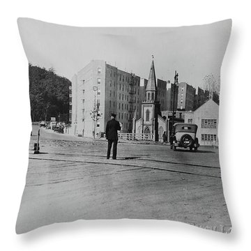 Throw Pillow featuring the photograph Mt. Washington Church  by Cole Thompson
