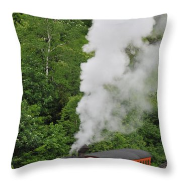 Mt Washington Cog Railroad Throw Pillow