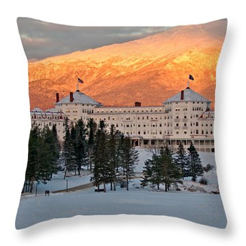 Mt. Washinton Hotel Throw Pillow