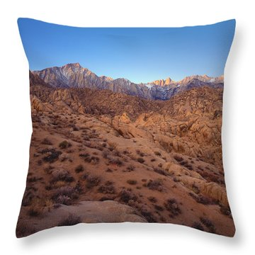 Mt. Whitney Dawning Light Throw Pillow