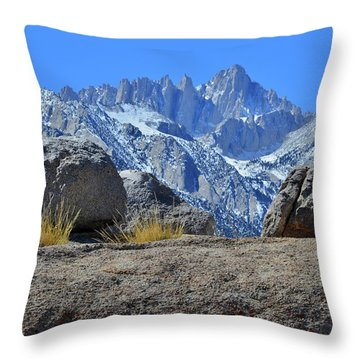 Mt. Whitney - Highest Point In The Lower 48 States Throw Pillow