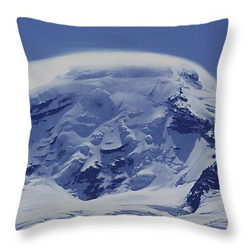 Throw Pillow featuring the photograph Mt201cloudcap Over Mt. Baker Wa by Ed Cooper Photography