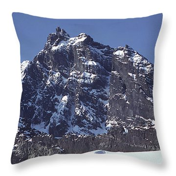 Throw Pillow featuring the photograph Mt207 North Face Lincoln Peak Wa by Ed Cooper Photography