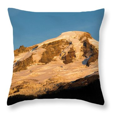 Mt.baker At Sunset  Throw Pillow