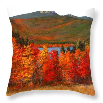 Mt.chocorua Throw Pillow