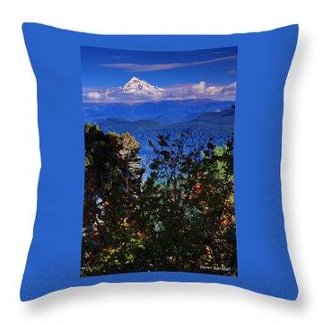 Mt.hood N Fall Throw Pillow