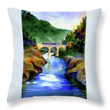 Mtn Quarries Rr Bridge Throw Pillow