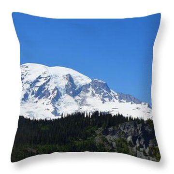 Mt.rainier Throw Pillow