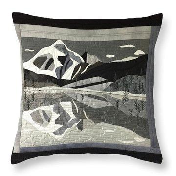 Mt.shuksan In Gray Throw Pillow