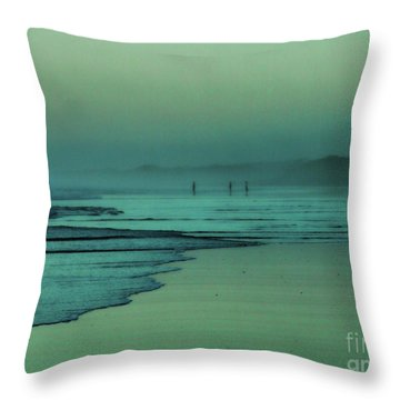 Muawai Sunset Throw Pillow by Karen Lewis