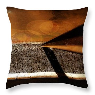 Mucem,panoramic,bokeh Throw Pillow