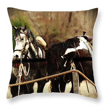 Much Needed Rest Throw Pillow by Kim Henderson