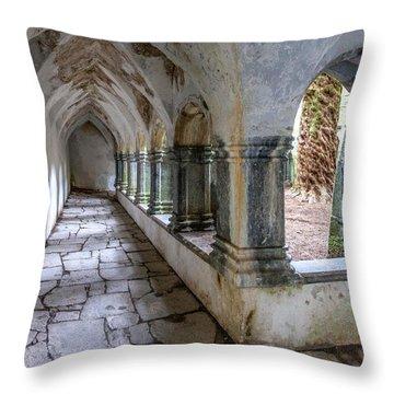 Muckross Abbey Cloister Throw Pillow