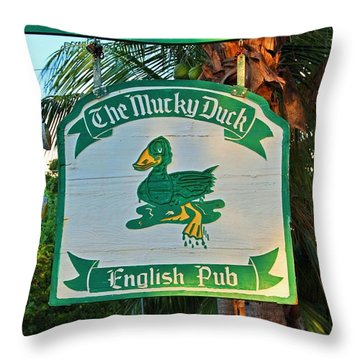 Mucky Duck I Throw Pillow