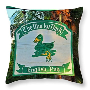 Mucky Duck I Throw Pillow