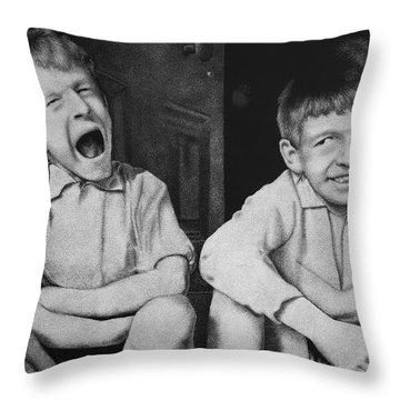 Mucky Kids Throw Pillow