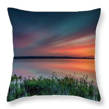 Mud Bay Sunset 4 Throw Pillow