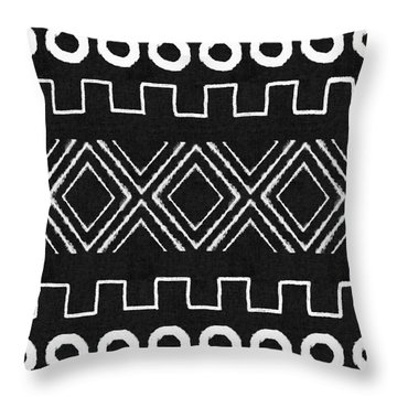 Mud Cloth 1- Art By Linda Woods Throw Pillow