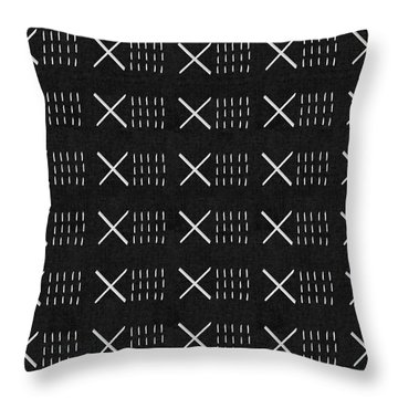Mud Cloth 6- Art By Linda Woods Throw Pillow