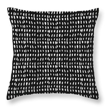 Mud Cloth 8- Art By Linda Woods Throw Pillow