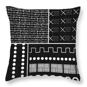 Mud Cloth 9- Art By Linda Woods Throw Pillow
