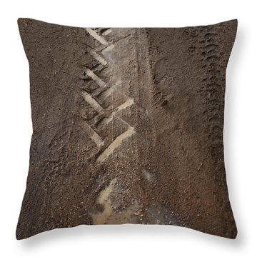 Throw Pillow featuring the photograph Mud Escape by Stephen Mitchell