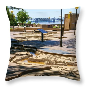 Mud Island Park Throw Pillow