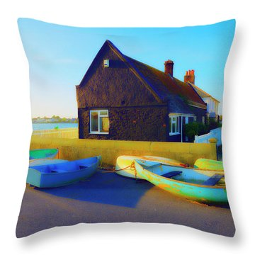 Muddage  Rowers Throw Pillow