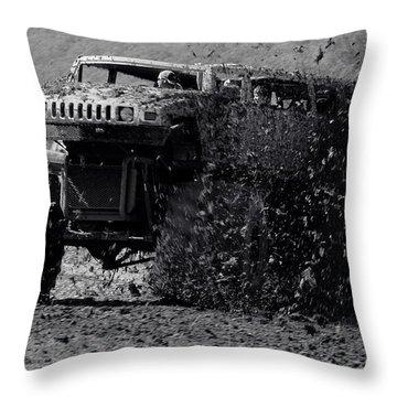 Mudder Throw Pillow