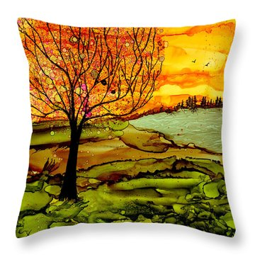 Muddy Fall Throw Pillow