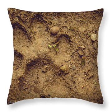 Muddy Pup Throw Pillow
