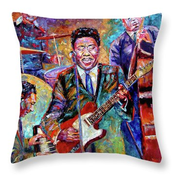 Muddy Waters And His Band Throw Pillow by Debra Hurd