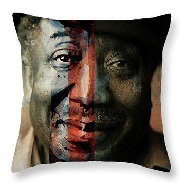 Muddy Waters - Mannish Boy  Throw Pillow