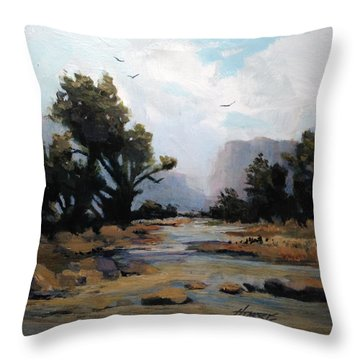 Muddywaters Throw Pillow