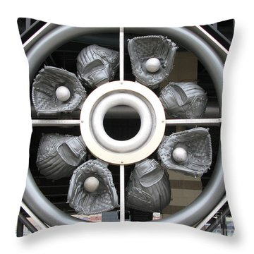 Mudhen's Baseball Gloves Gate Throw Pillow