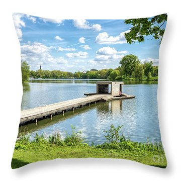 Muenster Aasee Panoramic View Throw Pillow