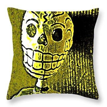 Muertos 1 Throw Pillow by Pamela Cooper