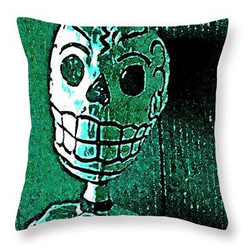 Muertos 4 Throw Pillow by Pamela Cooper