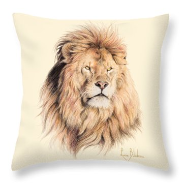 Mufasa Throw Pillow by Lucie Bilodeau