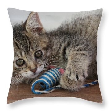 Throw Pillow featuring the photograph Muffin by Doris Potter