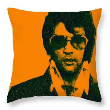 Mugshot Elvis Presley Throw Pillow
