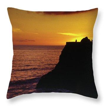 Throw Pillow featuring the photograph Mugu Rock Sunset by Samuel M Purvis III